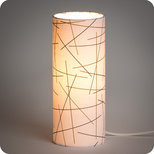 Cylinder fabric table lamp Mikado