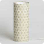 Cylinder fabric table lamp Hoshi or