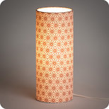 Cylinder fabric table lamp Hoshi cuivre