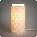 Cylinder fabric table lamp Hoshi argent