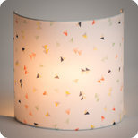 Fabric half lamp shade for wall light Cerf-volant