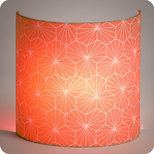 Fabric half lamp shade for wall light Pépite corail