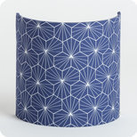 Fabric half lamp shade for wall light Pépite indigo