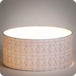 Drum fabric lamp shade / pendant shade Cinetic indigo