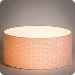 Drum fabric lamp shade / pendant shade Cinetic corail