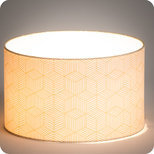 Drum fabric lamp shade / pendant shade Cinetic miel