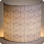 Fabric half lamp shade for wall light Cinetic indigo