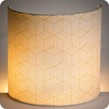Fabric half lamp shade for wall light Cinetic miel