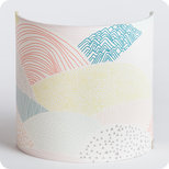 Fabric half lamp shade for wall light Escapade