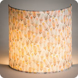 Fabric half lamp shade for wall light Envol