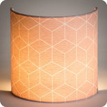 Fabric half lamp shade for wall light Cubic rose