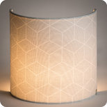Fabric half lamp shade for wall light Cubic gris