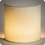 Fabric half lamp shade for wall light Bekko