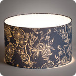 Drum fabric lamp shade / pendant shade Blue Simone