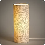 Cylinder fabric table lamp Zen