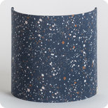 Fabric half lamp shade for wall light Terrazzo night