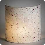 Fabric half lamp shade for wall light Terrazzo