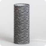 Cylinder fabric table lamp Nami