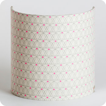 Fabric half lamp shade for wall light Mousseline