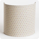 Fabric half lamp shade for wall light Mini Hoshi