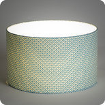 Drum fabric lamp shade / pendant shade Blue aka