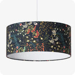 Drum fabric lamp shade / pendant shade Symphonie navy