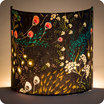 Fabric half lamp shade for wall light Symphonie navy lit