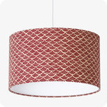 Drum fabric lamp shade / pendant shade Nami terra