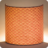 Fabric half lamp shade for wall light Nami terra