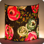 Fabric half lamp shade for wall light Botan