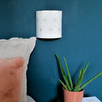Fabric half lamp shade for wall light Maxi hoshi or
