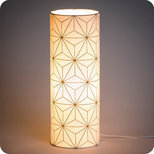 Cylinder fabric table lamp Maxi hoshi or