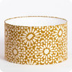 Drum fabric lamp shade / pendant shade Sun yellow Ø30