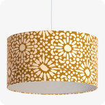 Drum fabric lamp shade / pendant shade Sun yellow