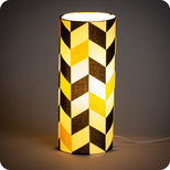 Cylinder fabric table lamp Modernist