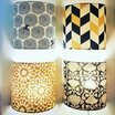 Fabric half lamp shade for wall light Modernist lit