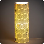 Cylinder fabric table lamp Colibri
