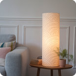 Cotton gauze cylinder table lamp Colline