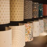Cotton gauze half lamp shade for wall light Colline