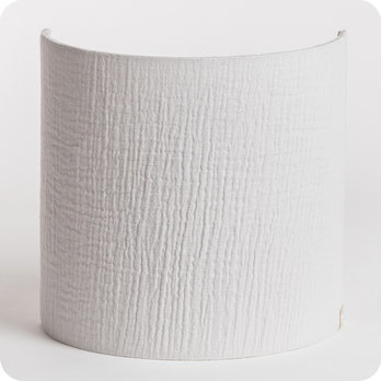 Cotton gauze half lamp shade for wall light Gris clair