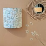 Fabric half lamp shade for wall light Dream