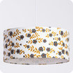 Drum fabric pendant shade Billie blanc Ø40