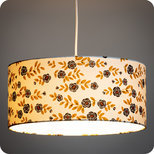 Drum fabric lamp shade / pendant shade Billie blanc
