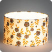 Drum fabric lamp shade / pendant shade Billie blanc lit Ø25
