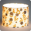 Drum fabric lamp shade / pendant shade Billie blanc lit Ø20