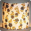Fabric half lamp shade for wall light Billie blanc lit