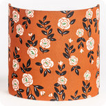 Fabric half lamp shade for wall light Billie brique