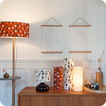 Drum fabric lamp shade / pendant shade Billie brique