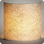 Fabric half lamp shade for wall light Goldie