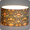 Drum fabric lamp shade / pendant shade Lodden Morris&co. lit Ø30